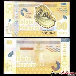 ISLOTE HORACIO / GUINEE EQUATORIALE - Billet de 50 Ekuele - Coquillage - 2016