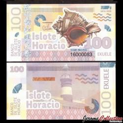 ISLOTE HORACIO / GUINEE EQUATORIALE - Billet de 100 Ekuele - Coquillage - 2016 0100