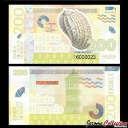 ISLOTE HORACIO / GUINEE EQUATORIALE - Billet de 200 Ekuele - Coquillage - 2016