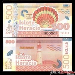 ISLOTE HORACIO / GUINEE EQUATORIALE - Billet de 500 Ekuele - Coquillage - 2016