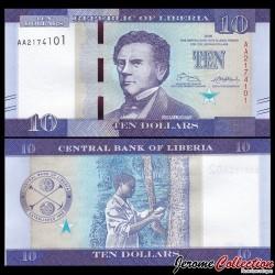 LIBERIA - Billet de 10 DOLLARS - 2016