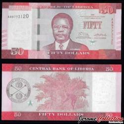 LIBERIA - Billet de 50 DOLLARS - 2016
