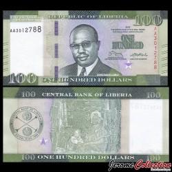 LIBERIA - Billet de 100 DOLLARS - 2016 P35a