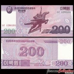 COREE DU NORD - Billet de 200 Won - 2008