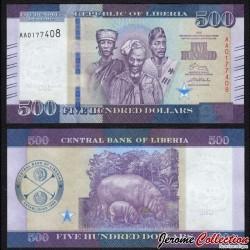 LIBERIA - Billet de 500 DOLLARS - 2016 P36a