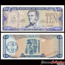 LIBERIA - Billet de 10 DOLLARS - 2011 P27f