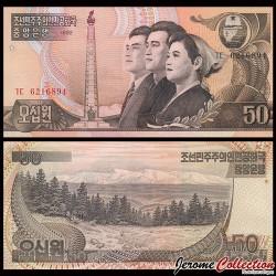C0REE DU NORD - Billet de 50 Won - 1992