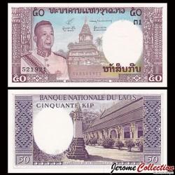 LAOS - Billet de 50 Kip - 1963