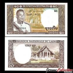 LAOS - Billet de 20 Kip - 1963