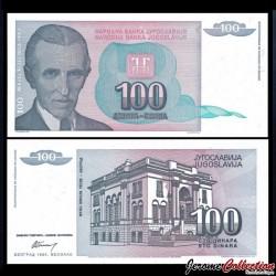 YOUGOSLAVIE - Billet de 100 Dinara - Nikola Tesla - 1994
