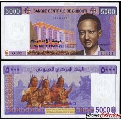 DJIBOUTI - Billet de 5000 Francs - 2002