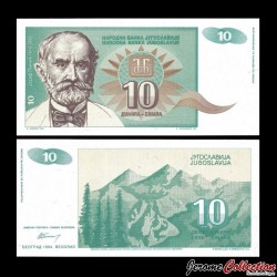 YOUGOSLAVIE - Billet de 10 Dinara - Josif Pančić - 1994 P138a