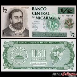 NICARAGUA - Billet de 1/2 Córdoba - 1992