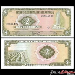 NICARAGUA - Billet de 2 Córdobas - 1972