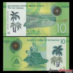 NICARAGUA - Billet de 10 Córdobas - Polymer - 26.03.2014