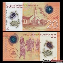 NICARAGUA - Billet de 20 Córdobas - Polymer - 26.03.2014