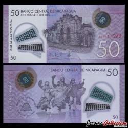 NICARAGUA - Billet de 50 Córdobas - Polymer - 26.03.2014