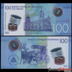 NICARAGUA - Billet de 100 Córdobas - Polymer - 26.03.2014