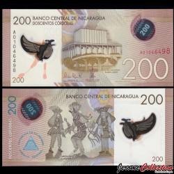 NICARAGUA - Billet de 200 Córdobas - Polymer - 26.03.2014