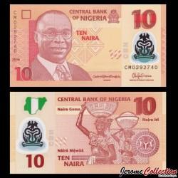 NIGERIA - Billet de 10 Naira - Polymer - 2016