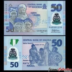 NIGERIA - Billet de 50 Naira - Polymer - 2015