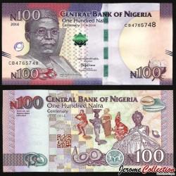 NIGERIA - Billet de 100 Naira - 2014