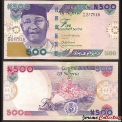 NIGERIA - Billet de 500 Naira - 2015