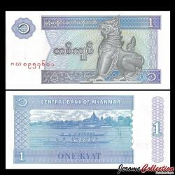 MYANMAR (ex-Birmanie) - Billet de 1 Kyat - 1996
