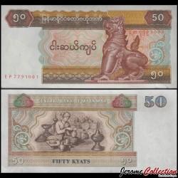 MYANMAR (ex-Birmanie) - Billet de 50 Kyats - 1995