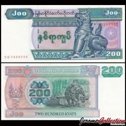 MYANMAR (ex-Birmanie) - Billet de 200 Kyats - 1995