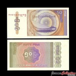 MYANMAR (ex-Birmanie) - Billet de 50 Pyas - 1994