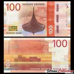 NORVEGE - Billet de 100 Kroner - Gokstadskipet (Navire Viking) - 2016 P54a
