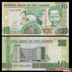 GAMBIE - Billet de 10 Dalasis - 2006 / 2013