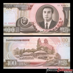 COREE DU NORD - Billet de 100 Won - 1992