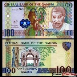 GAMBIE - Billet de 100 Dalasis - Oiseau Perroquet youyou - 2006 / 2013