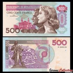 MONACO - Billet de 500 Francs - Princesse Grace Kelly - 2015