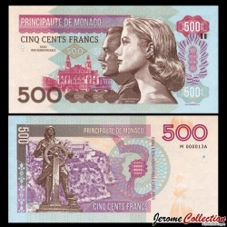 MONACO - Billet de 500 Francs - Princesse Grace Kelly - 2015