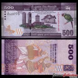 SRI LANKA - Billet de 500 Roupies - 2010