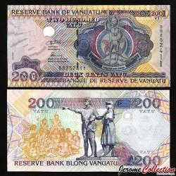 VANUATU - Billet de 200 Vatu - 15ème anniversaire de l'indépendance - 1995