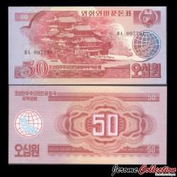 COREE DU NORD - Billet de 50 Won - 1988