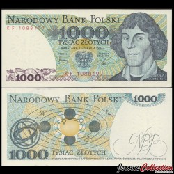 POLOGNE - Billet de 1000 Złotych - Nicolas Copernic - 1982 P146c
