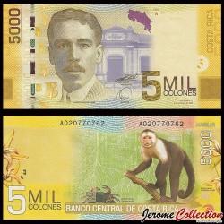 COSTA RICA - Billet de 5000 Colones - 2009