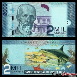 COSTA RICA - Billet de 2000 Colones - 2013