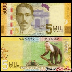 COSTA RICA - Billet de 5000 Colones - 2012