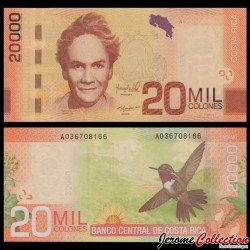 COSTA RICA - Billet de 20000 Colones - 2012