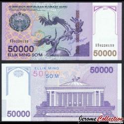OUZBEKISTAN - Billet de 50000 Som - 2017