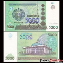 OUZBEKISTAN - Billet de 5000 Som - 2013