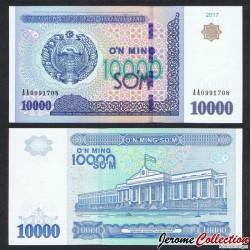 OUZBEKISTAN - Billet de 10000 Som - 2017