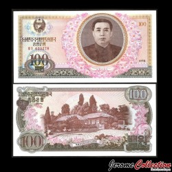 COREE DU NORD - Billet de 100 Won - 1978