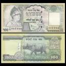 NEPAL - Billet de 100 Roupies - Rhinocéros - 2005